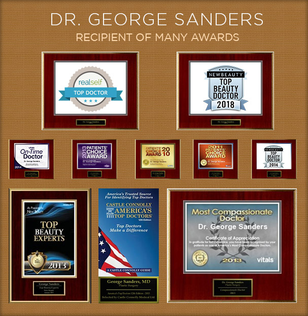 Dr. Sanders Plastic Surgery Awards and Honors